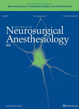 Журнал Нейроанестезиология
