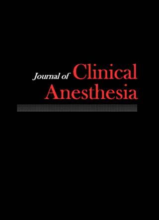 Журнал Клинической анестезии